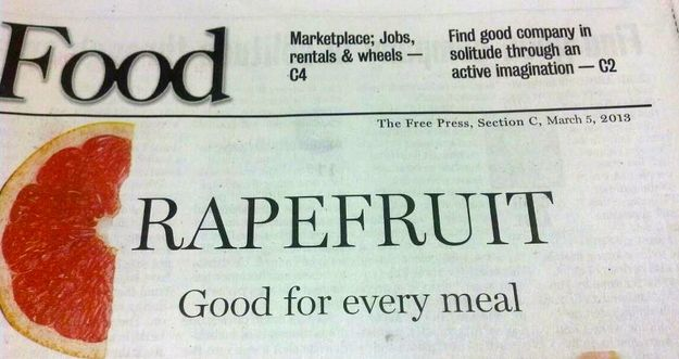 Amazingly Awful Newspaper Headline Of The Day #smh