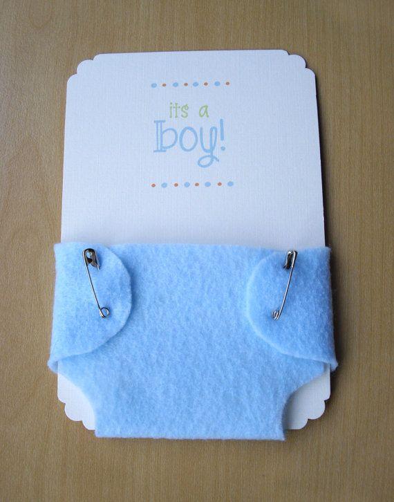 Junge Baby Shower Einladungen blaue Windel von HelloAgainStudio