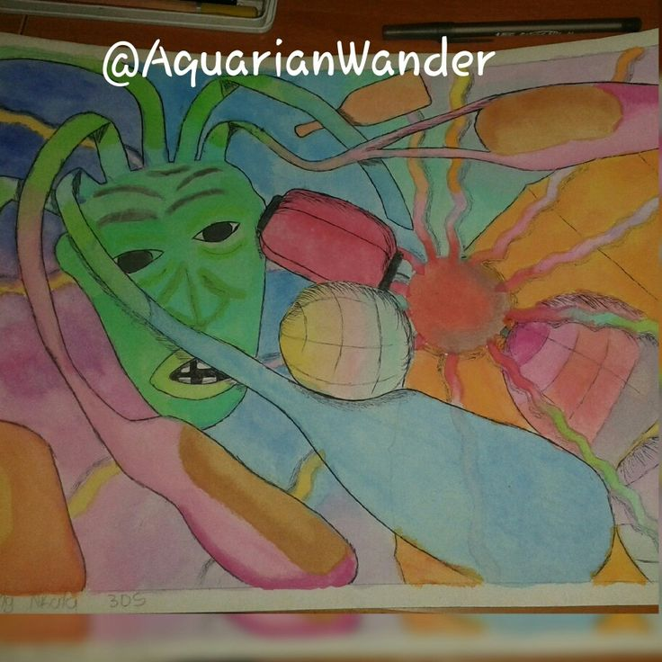 Done in grade 9 - 2013 - Surrealistic style of items we had to combine that we found in the classroom - Watercolours and Pen - A3