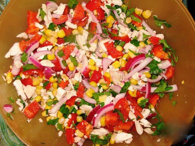салат из ветчины перца болгарского