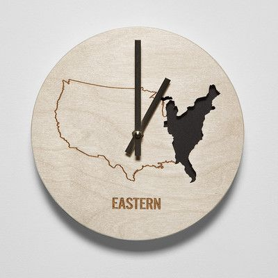 """Reed Wilson Design 8"""" Eastern Time Zone Clock"""