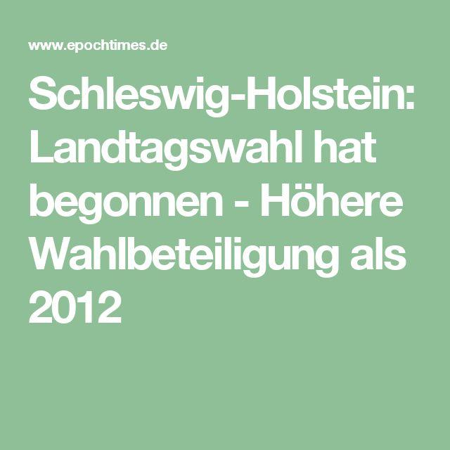 Schleswig-Holstein: Landtagswahl hat begonnen - Höhere Wahlbeteiligung als 2012