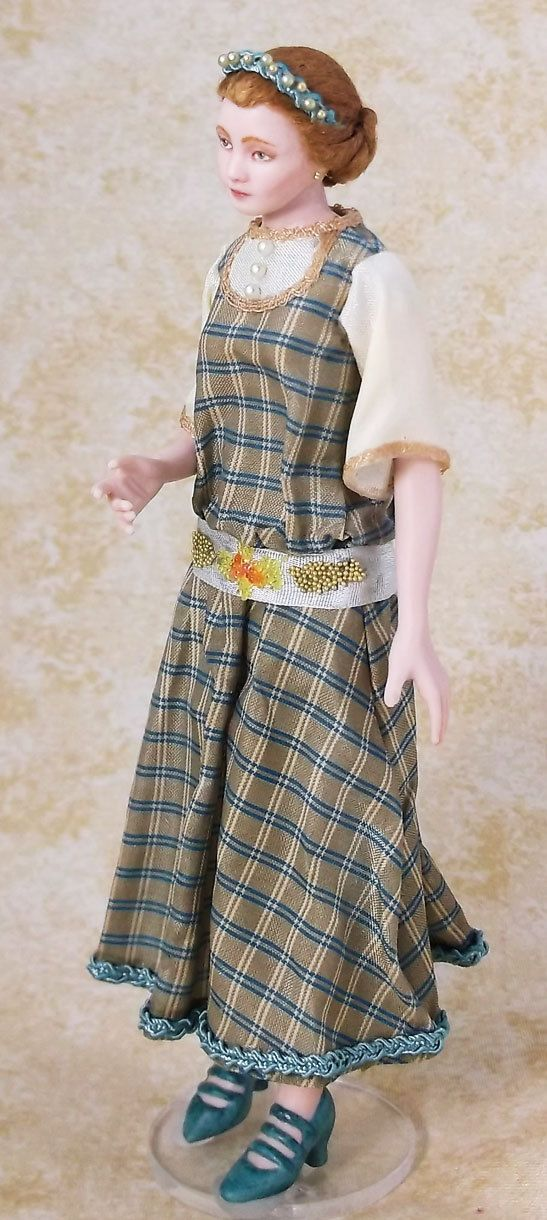 Miniature Dollhouse Doll 1:12 Scale Twenties Lady by LillisLittles