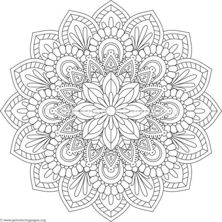 Flower Mandala Coloring Pages 402 Getcoloringpages Org Mandala Malvorlagen Mandala Zum Ausdrucken Ausmalbilder Mandala