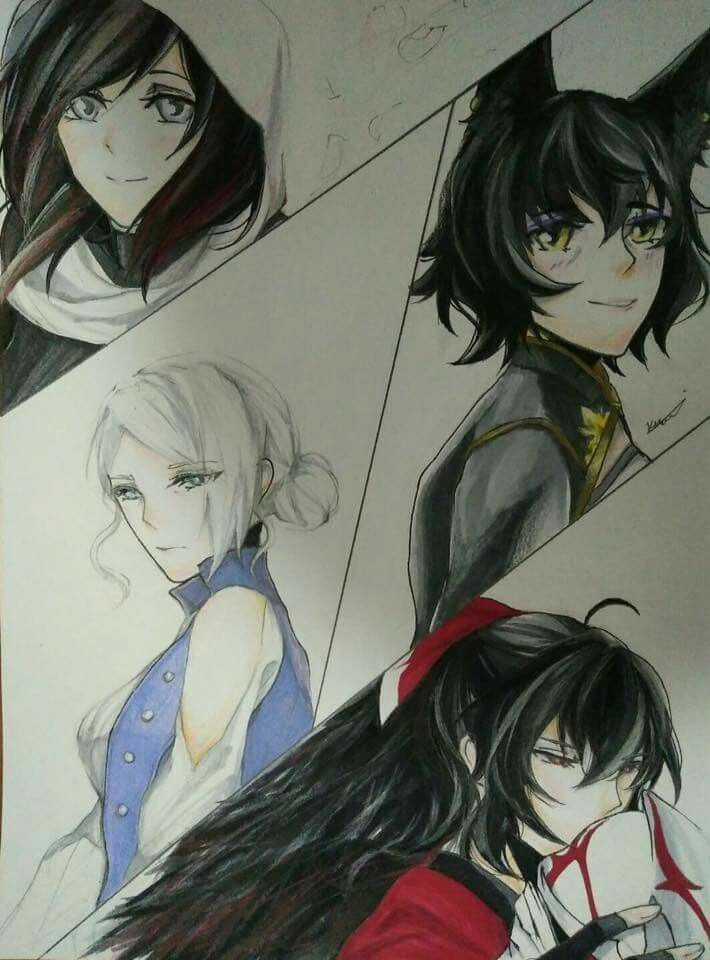 The mothers of Team RWBY - Summer, Kali, Weiss's mom, and Raven