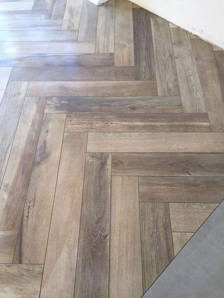 Visgraat houtlook tegels Kronos woodside oak 15x90 cm