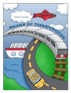 Transportation children's activities; educational games, arts and crafts, printable material. - Educatall