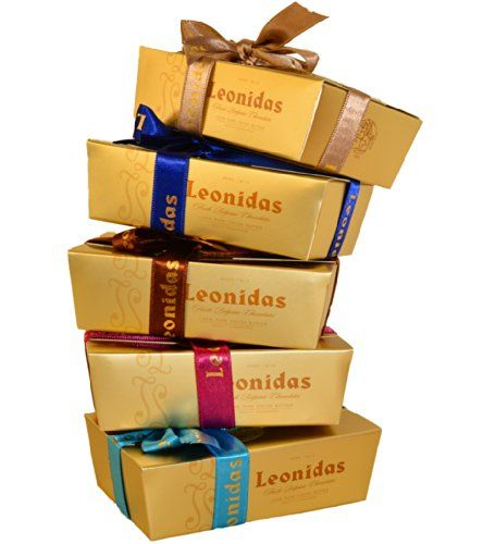 Teacher Thank You Gift : 5 Boxes with 8 Assorted Belgian Leonidas Chocolates. (980g)