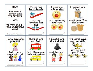 Grammar: Regular Plural Noun Flash Cards (Set 2) - pinned by @PediaStaff – Please Visit ht.ly/63sNt for all our pediatric therapy pins
