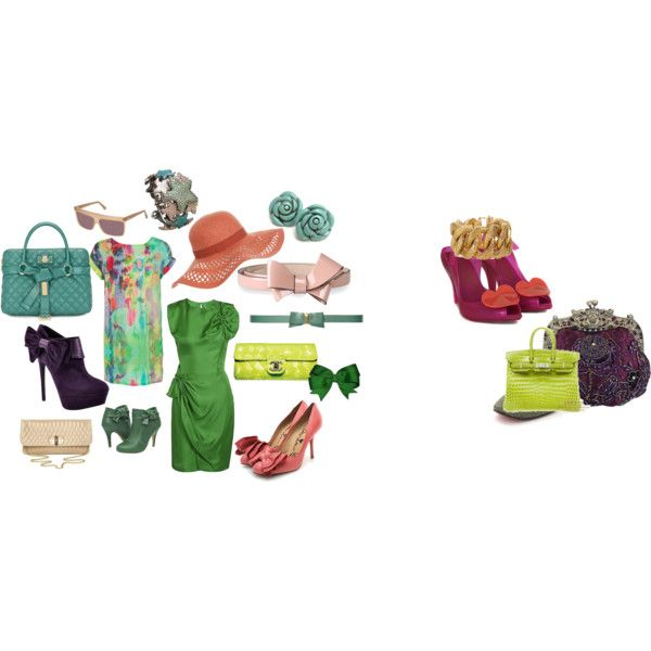 greenpink, created by jonobo on Polyvore
