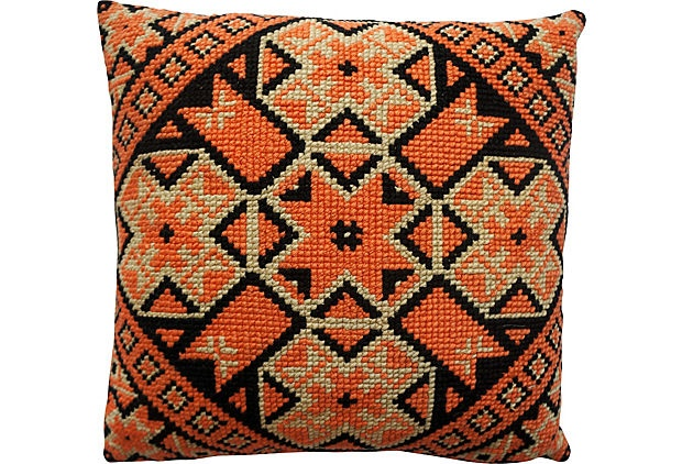 Needlepoint Patterned Pillow on OneKingsLane.com