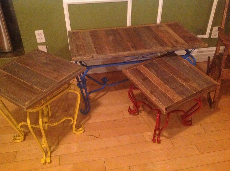 Table basse Bois de grange Vernis mat #desrochers et du bois