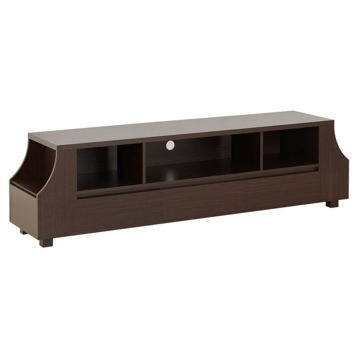 Furniture of America Bronzo Walnut Contemporary TV Stand - HFW-1694C4-TV