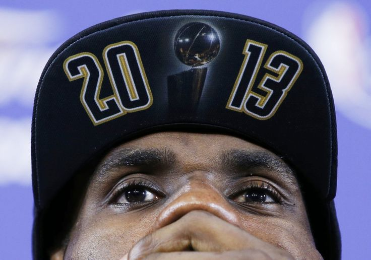 NBA CHAMPIONS: Miami Heat's LeBron James speaks at a press conference after his team defeated the San Antonio Spurs 95-88 in Game 7 of their NBA Final Basketball Championship Playoff in Miami, Florida June 20, 2013.