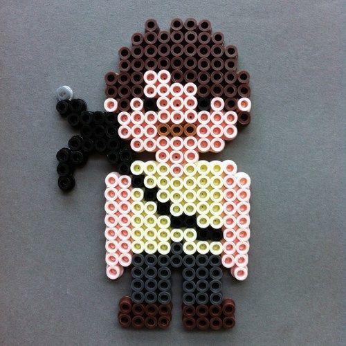 Daryl Dixon The Walking Dead Perler Bead Character Magnet by HarmonArt