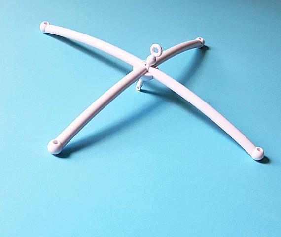 White plastic mobile frame
