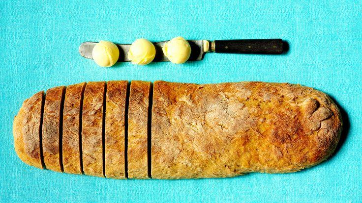 Skoldede brød bagt med kamutmel