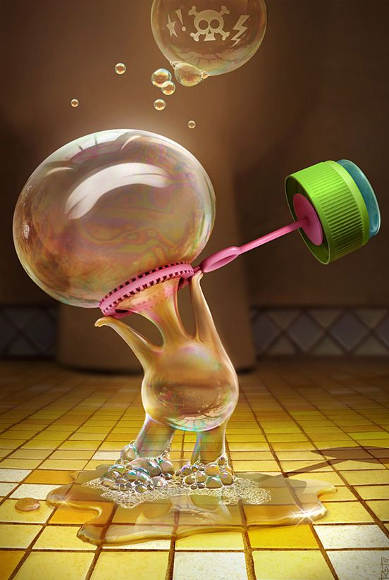 Bubble Trouble ;-) #3D #bubble