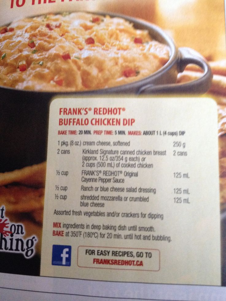 Franks Red Hot Buffalo Chicken Dip