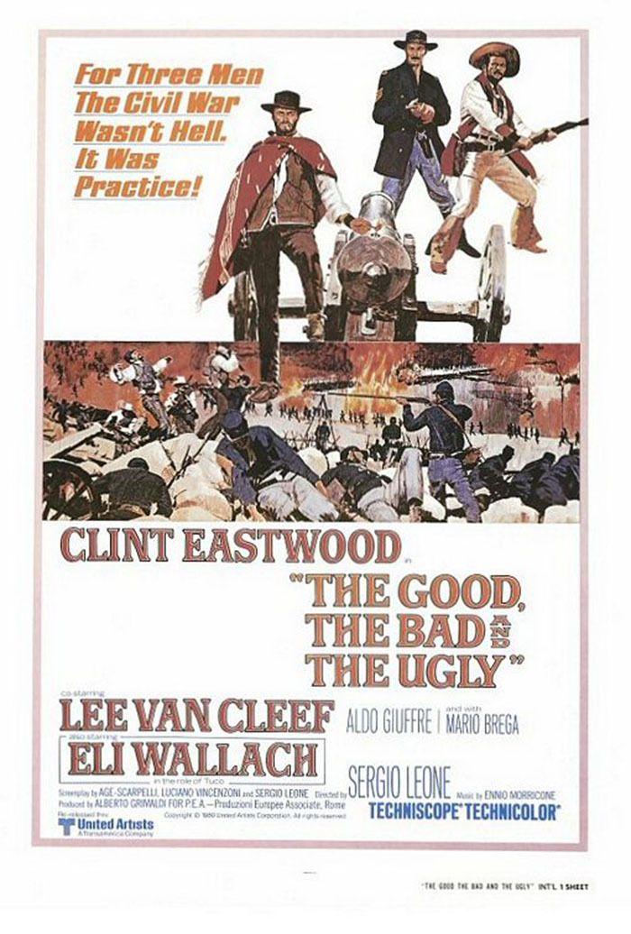 El Bueno, El Feo y El Malo (Il buono, il brutto, il cattivo), de Sergio Leone, 1966