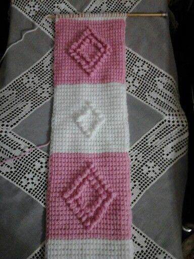 Tunus işi bebek battaniye .