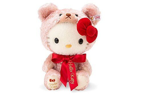 Hello Kitty 40th Anniversary Steiff Japan Limited Plush Doll Sanrio EMS F/S $499.9