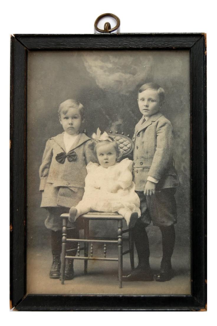 Three young children. Portrait. via The Vintage Moth
