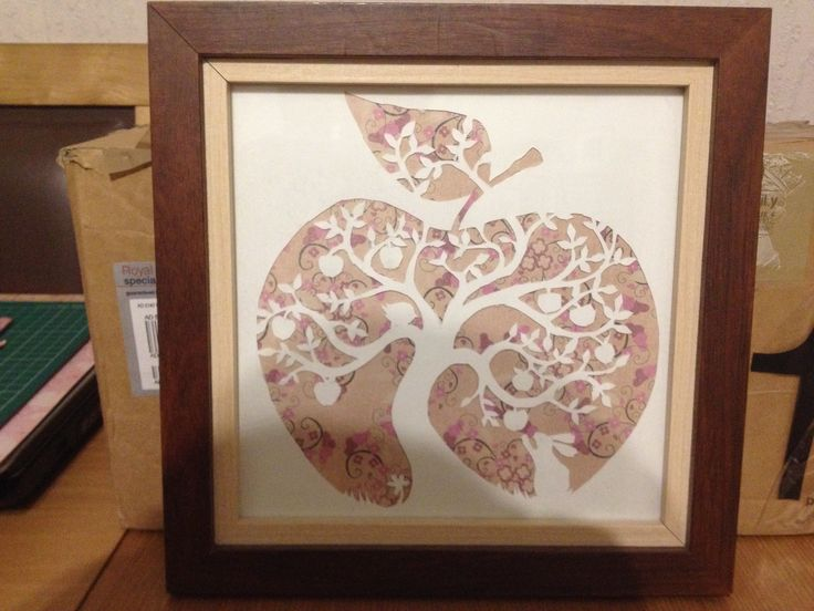 Papercut-1st attempt.   Picture from paper panda! Love her designs