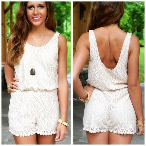 lace jumpsuit just in time for summer;) #fashion #summer