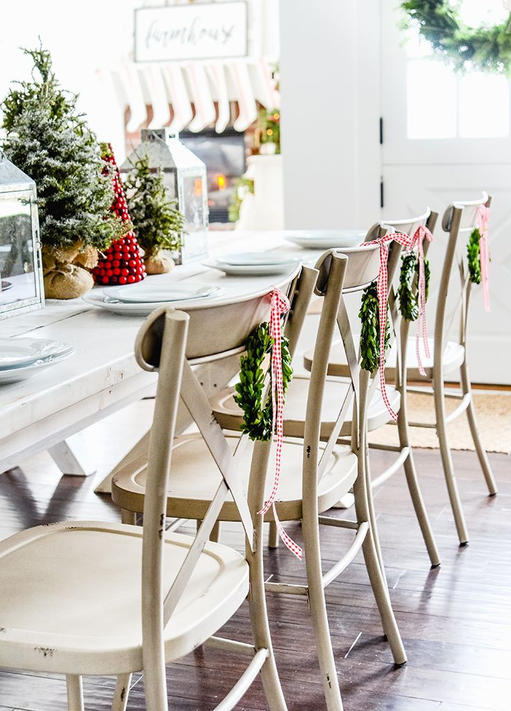 Bhg Farmhouse Christmas 2020 Better Homes and Gardens Collin Distressed White Dining Chair, Set