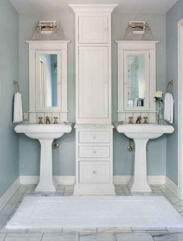 50 Awesome Bathroom Design Ideas Want To Remodel Your Master Bathroom Learn This First To Get Cheap Budget Small Master Bathroom Bathroom Remodel Master Pedestal Sink Bathroom
