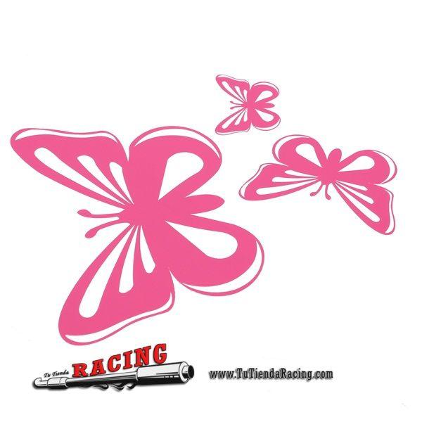 Pegatina Adhesiva deVinilo Mariposa Color Rosa para Vehículo - 5,59€ - TUTIENDARACING - ENVÍO GRATUITO EN TODAS TUS COMPRAS