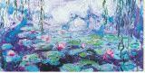 Claude Monet - Waterlilies Reprodukce na plátně