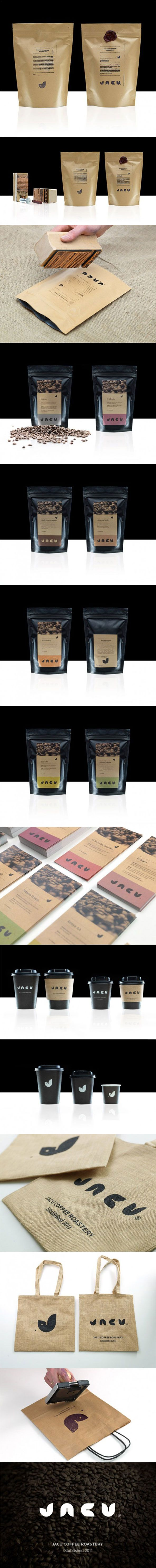 Jacu Coffee Roastery via Lovely Package curated by Packaging Diva PD identity packaging branding marketing