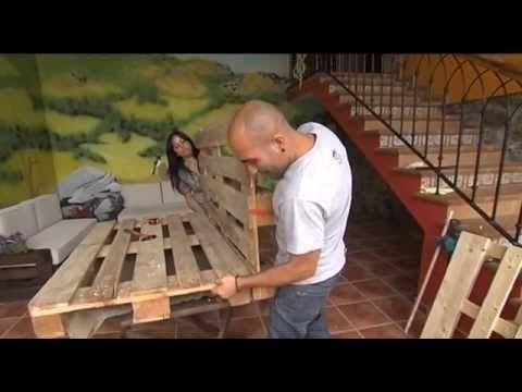 Bricolage con palets. Fabrica sofás y mesas con la Escuela Asturiana de ...