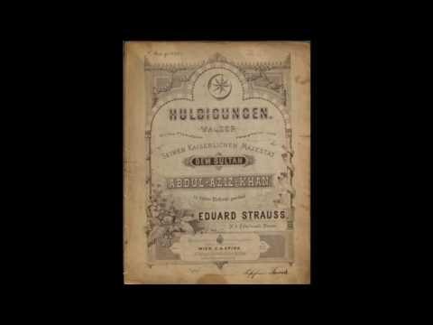 Eduard Strauss - Huldigungen, Walzer, Op. 88, Very Rare!