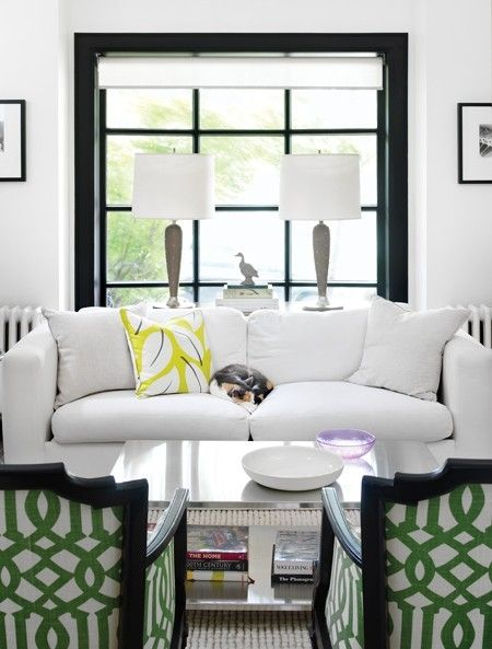 Charming Why White Slipcovers Are A Good Idea For People With Kids And Pets And  Sloppy Husbands · Patterned ChairGreen ChairsLiving Room SofaLiving ...