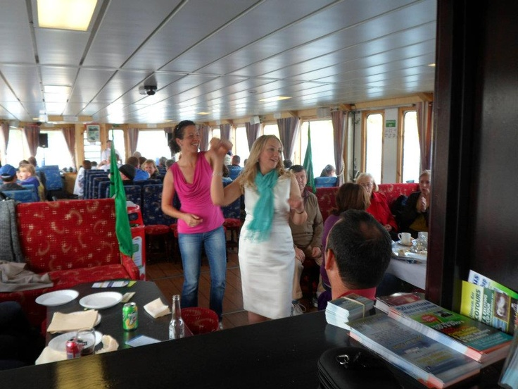 On board The Donegal Bay Waterbus. yesterday's bride takes her guests for a dance on the waves
