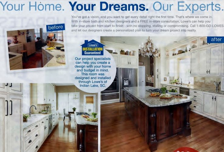 I clipped this from a Lowe's sales ad... I love they way it was converted into an Open Concept kitchen.