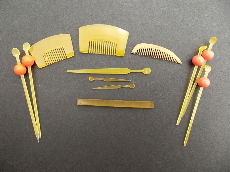 Assorted Miniature Kanzashi Combs And Hair Items For