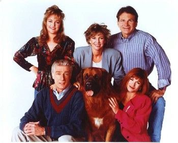 """empty nest""  Richard Mulligan, Dinah Manoff and David Leisure, kristy mcnickle, park overall,david leisure"