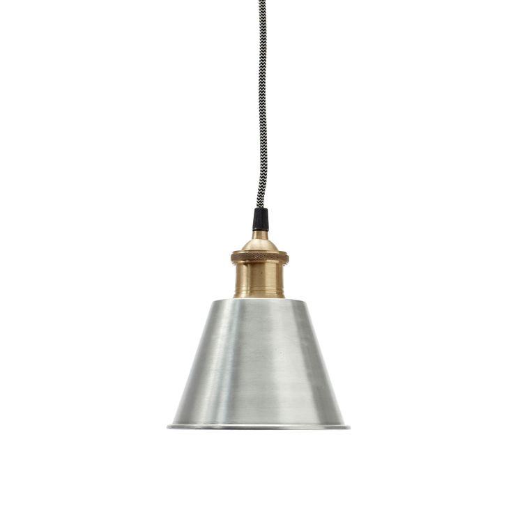 Smuk lampe fra Hübsch. metal lampe med messing fatning - Brøndum Interiør - Stort udvalg af design pendler i den bedste kvalitet