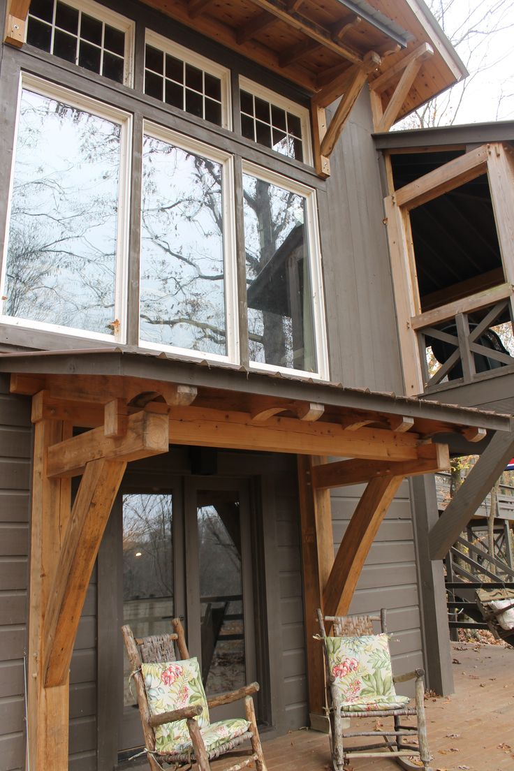 The 25 best timber frames ideas on pinterest timber for Timber frame porch addition