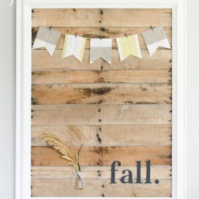 DIY Pallet Art Display {fall craft} | Signs | Pinterest