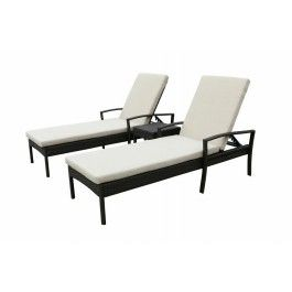 Dallas 3pc Outdoor Sunlounge Set -Brown
