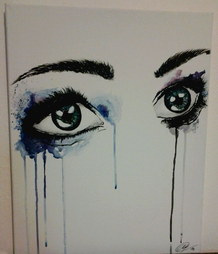 Running Mascara Drawing Best 25+ Watercolor ey...
