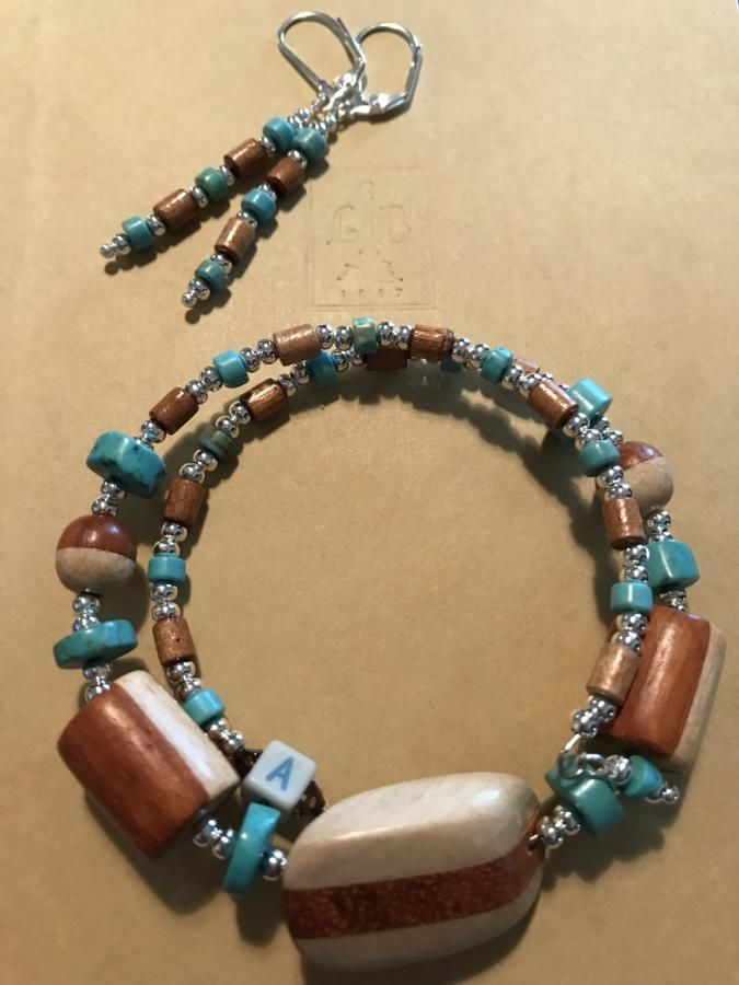 Turquoise and Wood by Andi