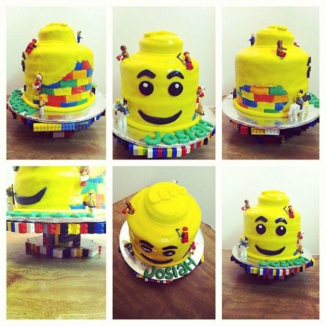 how to make a lego head cake with fondant