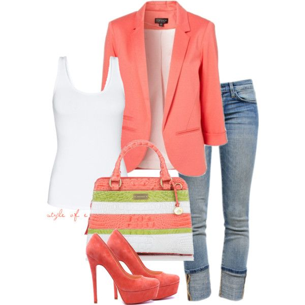 Love this: Light Pink Blazers, Shoes, Coral Blazers, Casual Friday, Style, Jackets, Summer Outfits, Summer Colors, Spring Outfits