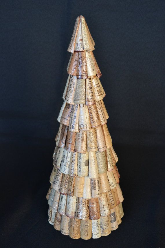 Wine Cork Christmas Tree.  Cone Christmas Tree.  Tabletop Tree.  The Salter House : Etsy